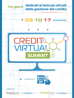 3, 10 e 17 Novembre 2020 - CREDIT VIRTUAL SUMMIT