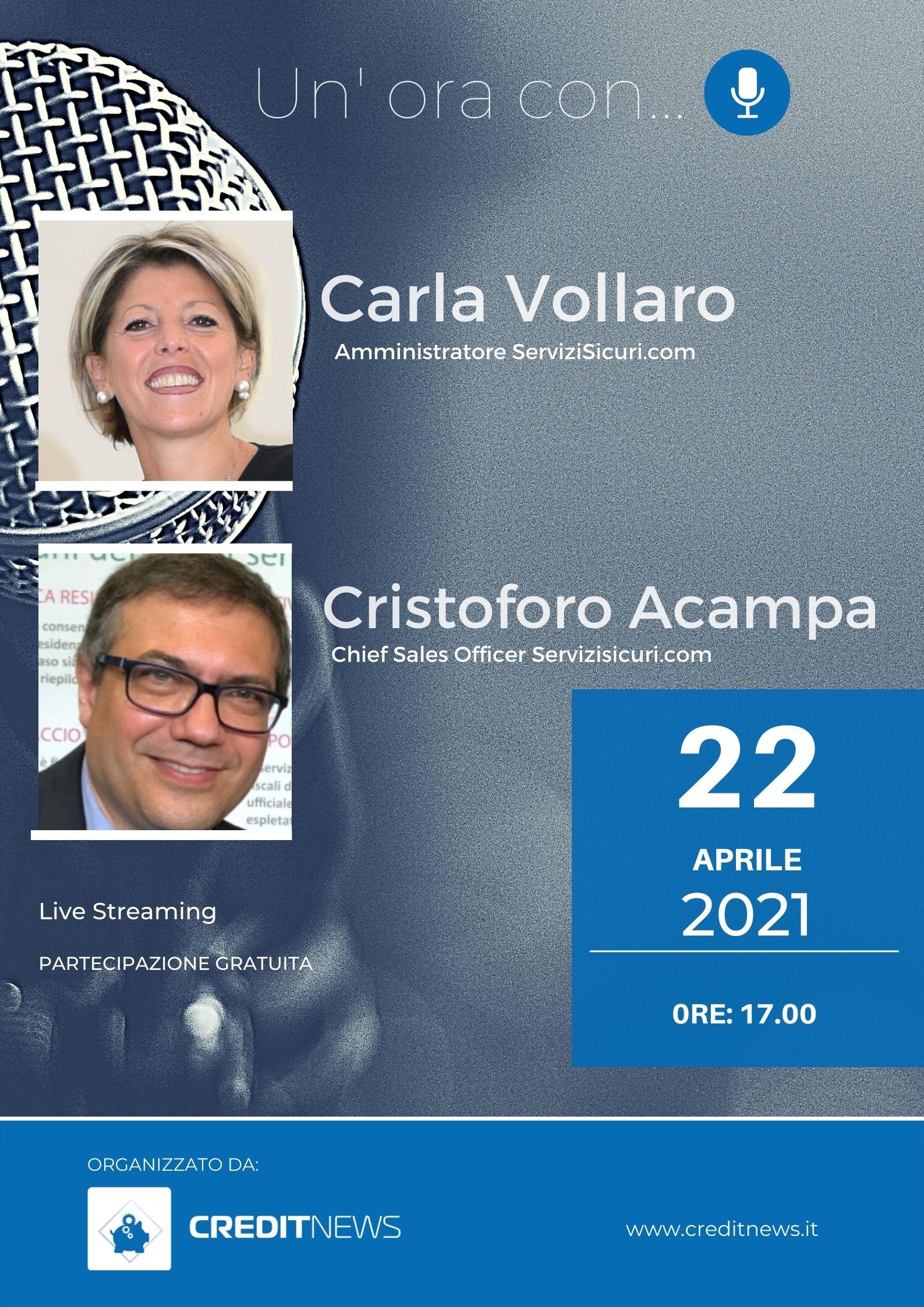 Un'ora con... Carla Vollaro e Cristoforo Acampa, ServiziSicuri.com